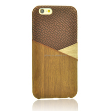 High Quality Leather Knitted wood phone case For iPhone 6s Case Leather, case For iPhone 6S Leather Case,Case For iPhone 6