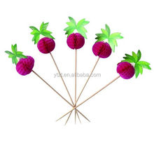 Natural bamboo party picks for wedding decoration