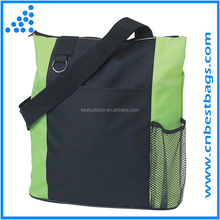 tote sport bag long strap tote bag with water bottle holder