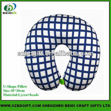 Custom u shape microbeads travel neck pillow