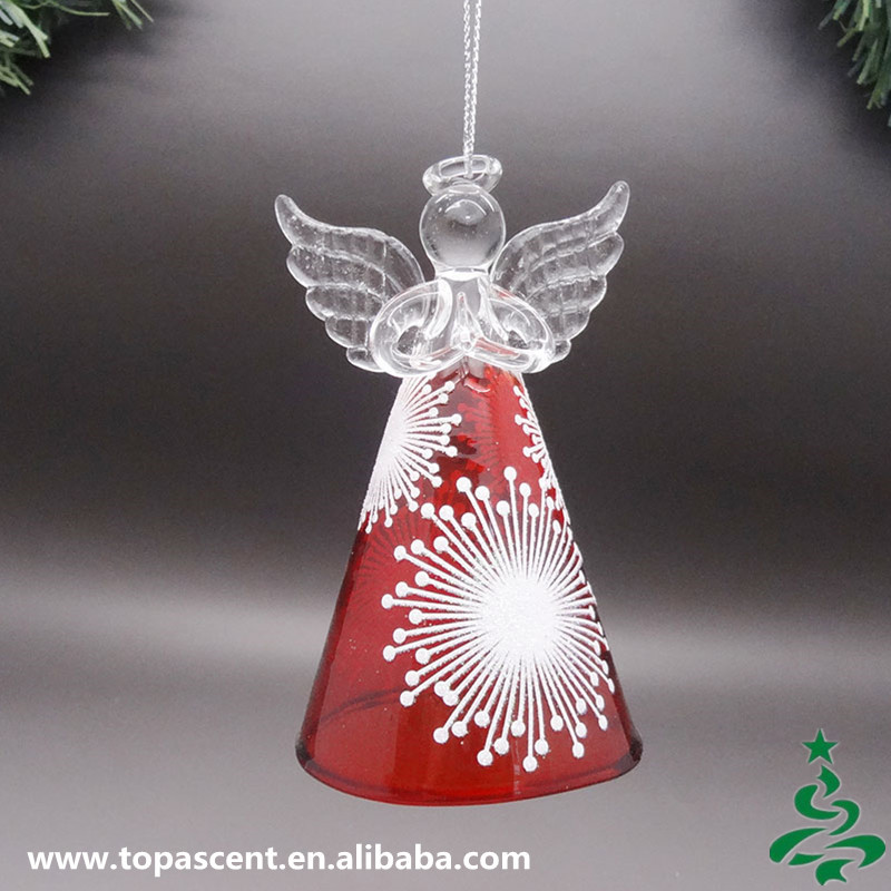Wholesale animated hand blown glass christmas angel