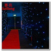 LED decoration lights star cloth/LED effect light/weddings LED star cloth light