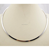 Wholesale Bulk Stainless Steel Simple Silver Choker Necklace Open