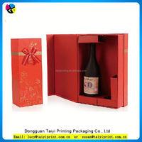 Hot sale exquisite individual custom paper wine gift box sale