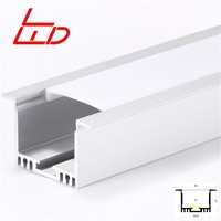 big size recessed aluminum led profile for high power stripe