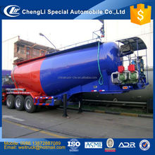 chinese cheap tri axle three comparments 60 m3 bulk flyash tanker semi trailer for hot sale