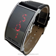 Bridge arc-shaped big screen mirror led watch,man watch(SWTPR1031)