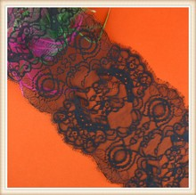 High quality eyelash lace eyebrows design decorative on wedding dress /bags made in China
