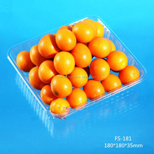 square disposible transparent plastic fruit packaging tray