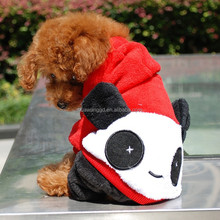 Warm panda costume for dogs , large dog winter clothes