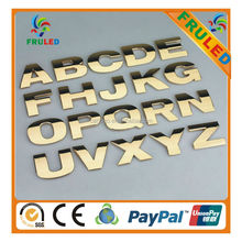 custom letter adhesive chrome 3d plastic 3d chrome letter