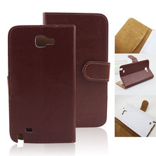 Wallet PU Leather flip cover for samsung galaxy note gt-n7000 i9220