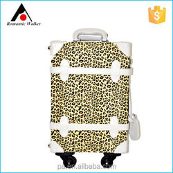 Quality warranty wholesale classical style sexy PU luggage with 4 removable wheels