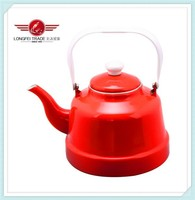 colour decal antique cast iron kettle