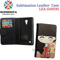 Sublimation leather case for samsung galaxy s4 mini i9190