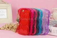 Best Price Big Pink Bow Transparent TPU case cover for iPhone 6 plus case