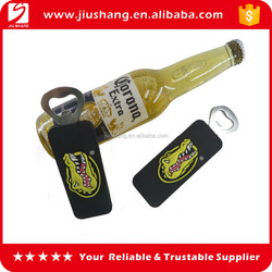 PVC bottle opener, pvc handle beer opener, magnet beer bottle opener, eco-friendly pvc with metal bottle opener