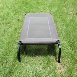 Comfortable Metal Frame Outdoor Dog Bed with PVC Fabric