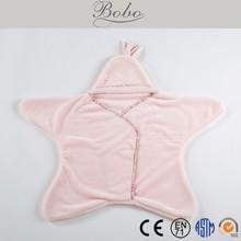 2015 star design coral fleece fabric bathrobe blanket