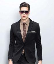 2015 Fashion Men's Black Slim Fit Business Suit