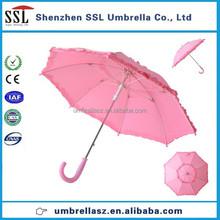 High quality Pretty princess pink child umbrella with frills