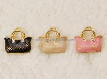 Wholesale Alibaba Zinc Alloy Handbag On Charms Metal charms Fits Link Chains
