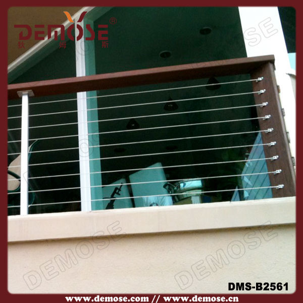 Modernes design draht/holz geländer für balkon geländer brüstung ...