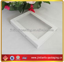 simple gift packaging white box PVC window