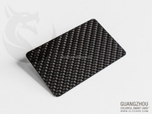 Carbon Fiber business Card with good printing