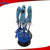 (SN131) High quality FDA&LFGB attractive 6pcs plastic kitchen utensils