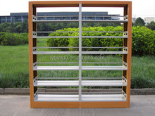 Top quality office furniture stainless steel bookshelf with good price