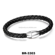 Best selling new high quality magnetic leather bracelet
