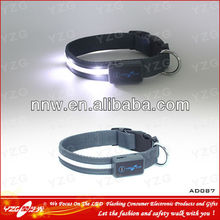 led rechargeable preppy dog collars adopt durable nylon