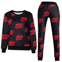 All over print sublimation 100% polyester korean style women pullover sweater