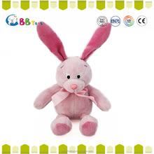 ICTI & NBCU audit plush manufactory direct sale plush pink rainbow bunny soft toy rabbit