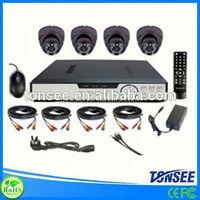 CCTV camera system kits cctv camera 720p two way audio p2p wireless ip camera fireproof bag