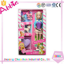 2015 Top Selling Kid Toy Fashion Doll With Pet
