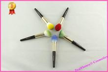 5 pcs fashionable colorful makeup brush set including powder brush and blush brush