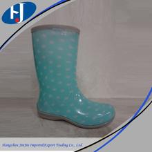 Half Boot fashion girl cheap pvc rain boots