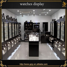 modern watches display case with LED lights