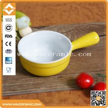 Pan shaped mousses cup, ceramic ramekin set, colorful snake bowl