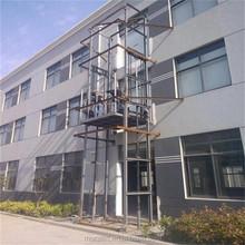 SJD0.5-4 wall mount lift/wall mount goods lift/wall mount hydraulic lift platform