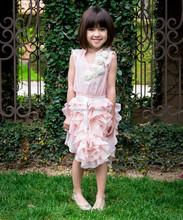 Das meninas do bebê personalizado vestido de flor de rosa senhora graça vestido para crianças - meninas roupas de verão