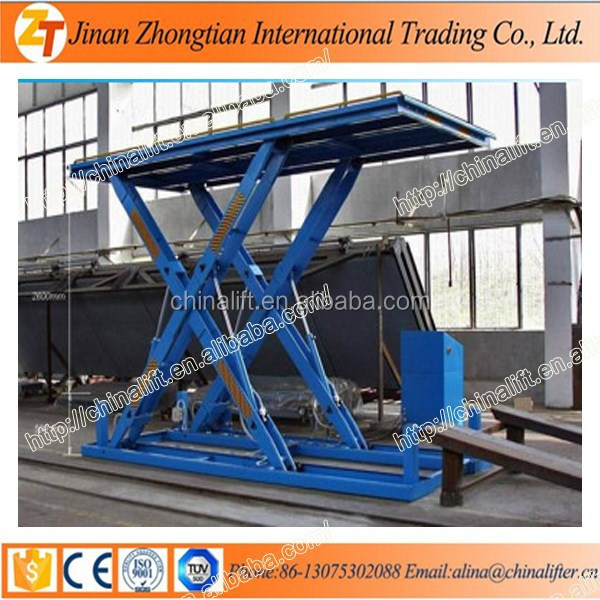 Electric Hydraulic Scissor Car Lift Used For Repairing