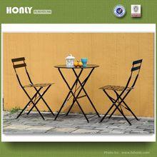 Folding metal garden furniture table chairs set wrought iron garden furniture