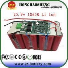 25.9V 6000mAh 18650 Lithium Ion Battery Cell for Massage Chair 7S3P