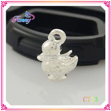 C733 Alloy Enamel Pendants Charms, With Brass Lobster Clasp, Duck Shaped,Thomas Charms Jewelry