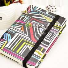 cheap custom hard cover notebook with rubber band