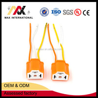 3 Pin Orange Automotive H4 Ceramic Headlight Socket Connector