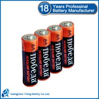 18 Years professinal battery manufacturer 1.5v aa lr6 am3 alkaline battery